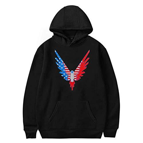 Student Adult Pullover Logan Paul Print Hoodie Netz Rot Sweatshirt Streetwear Mode Schwarz (XS-3XL),4,XL
