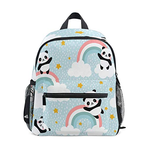 Sac à Dos pour Enfants Panda Mignon avec Sac de Jardin d'enfants d'âge préscolaire de Nuage d'arc-en-Ciel pour garçons Filles
