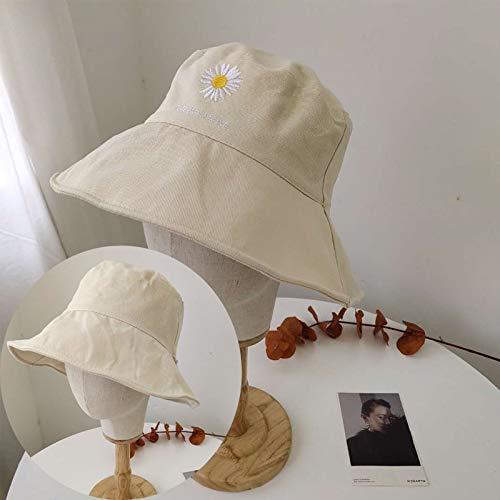 La misma sección de sombrero pequeña margarita resorte femenino y la afluencia del verano de la marca de doble cara cara significativa viento pequeño puerto de Harajuku casquillo del lavabo macho ACDE