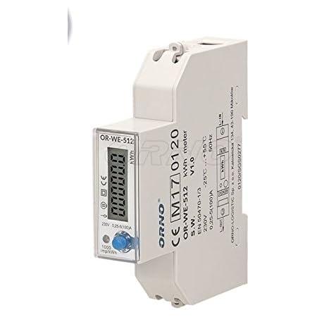 Digitaler 3-Phasen Stromz/ähler HaroldDol Drehstromz/ähler Vierdrahtz/ähler 230V//400V 100A mit LCD-Display f/ür DIN Hutschiene