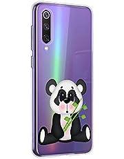 Oihxse Cristal Compatible con OnePlus 6T Funda Ultra-Delgado Silicona TPU Suave Protector Estuche Creativa Patrón Panda Protector Anti-Choque Carcasa Cover(Panda A2)