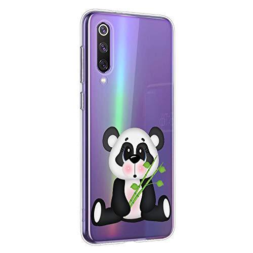 Oihxse Cristal Compatible con OnePlus 3/OnePlus 3t Funda Ultra-Delgado Silicona TPU Suave Protector Estuche Creativa Patrón Panda Protector Anti-Choque Carcasa Cover(Panda A2)