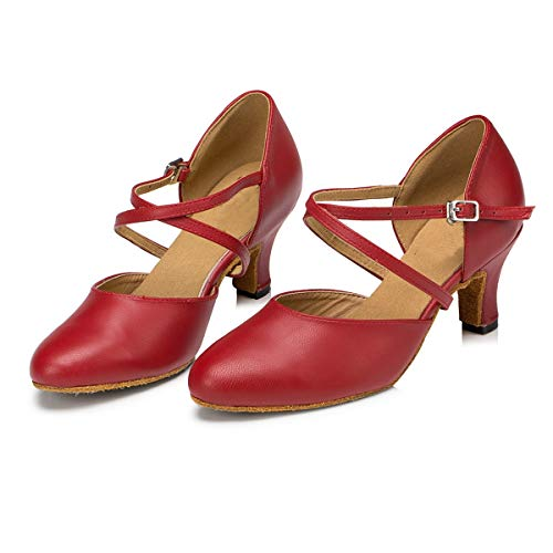Minitoo ,  Damen Tanzschuhe , Rot – rot – Größe: 39 - 3