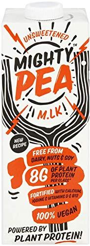 Mighty Pea Unsweetened – Vegan Milk Alternative, Dairy Free, Pea M.lk, High Protein (1L x 6 Cartons)