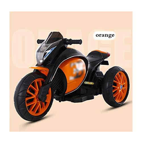 Yany Electric Motorrad für Kinder, Batteriebetrieben Elektromotorrad für Kleinkinder ab 3 Jahren Elektroroller, für Jungen Mädchen Geschenk 110 x 50 x 65cm,Orange