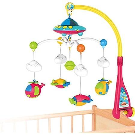 【beehive】ベッドメリー オルゴール モビール 360度回転 180曲音楽 知育おもちゃ ベビーベッド用 出産祝い ギフト プレゼント 人気製品 出産祝い 贈り物 多機能玩具 幼児用寝具 0-12歳
