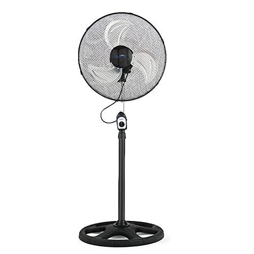 AVANT Ventilador de pie Ventilador de Pie Industrial 70W / 230V| Altura 45Cm Regulable | Ventilador Oscilante con 3 velocidades | Base de pie Redonda | Color Negro