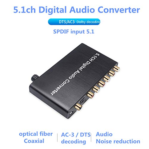 Buy 5.1 Audio Decoder Digital Audio Converter DTS / AC3 Dolby Decoding SPDIF Input to 5.1CH Can Auto...