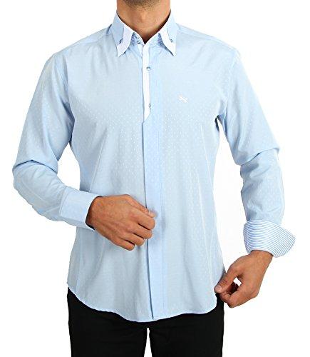 Luxe designer overhemd, beste kwaliteit, heren slim fit, vintage clothing mannen