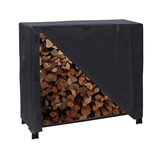 Purchase BCGT Firewood Rack Cover, Outdoor Log Rack Cover 420D Waterproof, Heavy Duty Patio Large Fu...