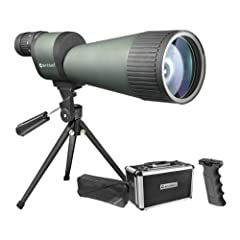 Precision Optics: The spotter features powerful and versatile 25-125x magnification that allows easy targeting and then zoom in for a closer and detailed look. Quality Optics: The spotting scope comes with fully-coated optics and large 88mm objective...
