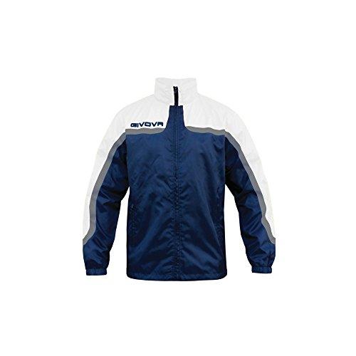 Givova, rain jacket asien, blau/weib, 2XL