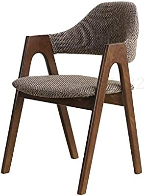 Kitchen Home Decor Modern Chair Solid Wood Dining Chair Nordic Negotiation Chair Back Coffee armrest Removable and Washable Bedroom Simple Home Conference (Color : Boom Clap 11)