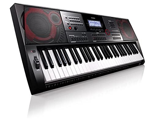 Casio CT-X5000 Top Keyboard mit 61 anschlagdynamischen Standardtasten, Begleitautomatik und starkem Lautsprechersystem schwarz, weiß