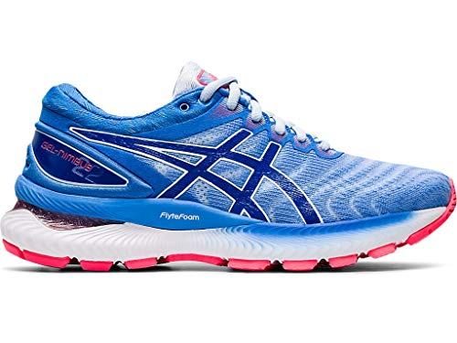 Preisvergleich Produktbild ASICS Women's Gel-Nimbus 22 Running Shoes,  5M,  Soft Sky / Tuna Blue