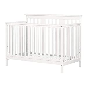 South Shore Cotton Candy Baby Crib 4 Heights with Toddler Rail,