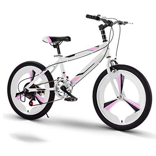 TXTC Niños Niñas 7-15 Años De Edad Bicicleta Infantil De 20 Pulgadas Ruedas, De 6 De Velocidad Variable del Bicicleta Cruiser, Bici De Montaña con Confortable Silla De De La Bicicleta De Los N