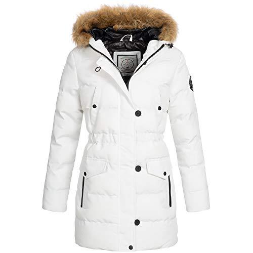 Brave Soul Jacket dames winterjas mantel winter parka imitatiebont capuchon OM-21