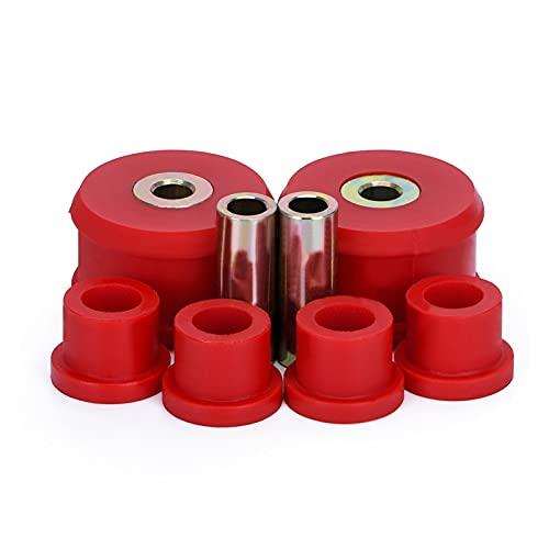 Sweatpants Juego de bujes de Brazo de Control Delantero Ajuste para VW Beetle 98-06 / Golf 85-06 / Jetta 85-06 Poliuretano Negro, Rojo PQY-CAB01 (Color : Red)