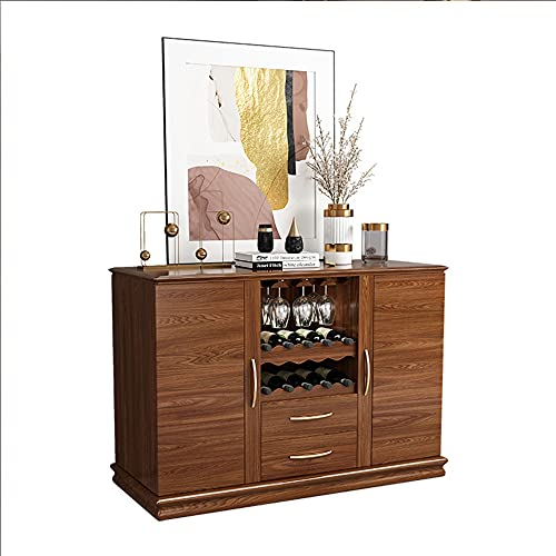 QINJIE Aparador Mueble Buffet, Cocina Multiusos, aparador de Almacenamiento Moderno, Mueble para vinos con 2 gabinetes y 2 cajones para Cocina, Comedor