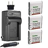 Kastar 3X Battery + Charger for Casio NP-40 LB-060 & Casio Exilim EX-Z1000 EX-Z1050 EX-Z10...