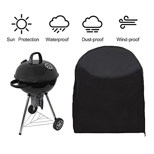 Siminliu Housse de Protection Barbecue ,Barbecue Couverture, capot | Bonne Étui étanche Outdoor, compatible avec barbecue Cover | 77 * 58 cm – Noir