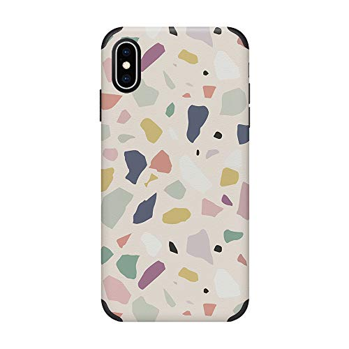 CUSTYPE iPhone Xs Max Case Print Pattern Design Phone Case, Ultra Slim Anti-Slip Shock-Absorption Bumper Cover Case Compatible with iPhone Xs Max 6.5-Inch Watercolor
