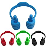 4 Packs with 4 Colors Thumbs Up Cell Phone Stands, Mobile Phones Stand with Hand Holder for Desk, Office, Desktop Tablet Cellphone Thumb Holder, Adjustable Flexible Hard Plastic - Ok Stand