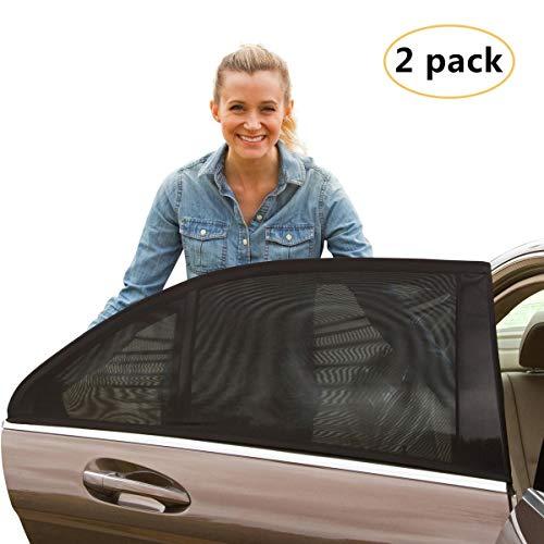 Karids hochwertiger Sonnenschutz fürs Auto (2 STÜCK) - Sonnenblende fürs Autofenster zum UV-Schutz und Verdunkelung für Babys, Kinder und Hunde - Schnelle Montage am Seitenfenster für jedes Auto