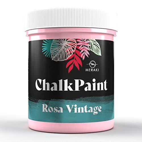 CHALK PAINT Pintura efecto tiza al agua mate (500ML, ROSA VINTAGE)