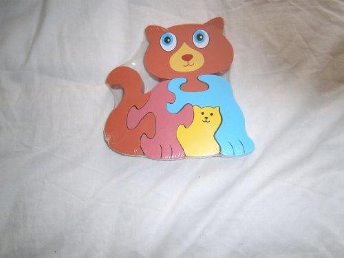 Enfants Bois Chat Animal Forme Puzzle 12 Mois+