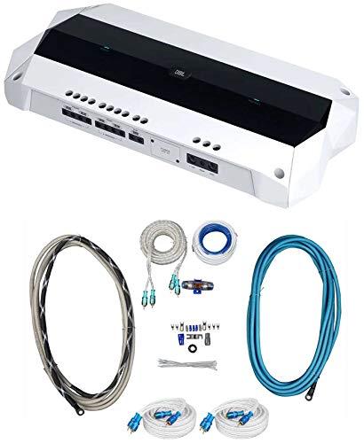 JBL MA4505 1800 Watt 5-Channel Marine Audio Boat Amplifier+Amp Wire...