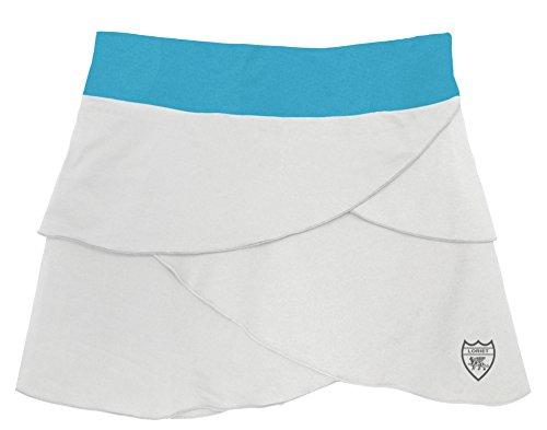 Loriet Women's Monaco Performance Skorts White/Turquoise Small