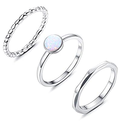 stackable rings silver