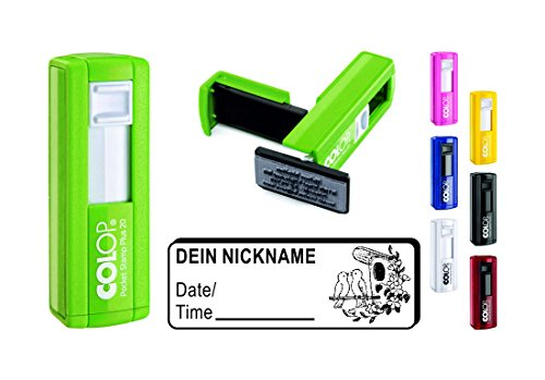 Geocachingstempel « VOGELHAUS » mit persönlichen Cachername / Nickname rechteckiger Stempel Geocaching Pocketstempel