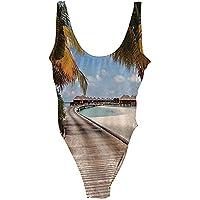 水着 女性のためのパッド入り水着 女の子 スイムウエア レディース ハイウエストビキニボトムおなかコントロール ジム レディース競泳 暑さ対策 大きサイズL/XL/2XL/3XL スリングタンキニ水着付き ハイウエストビキニボトムプラスサイズ