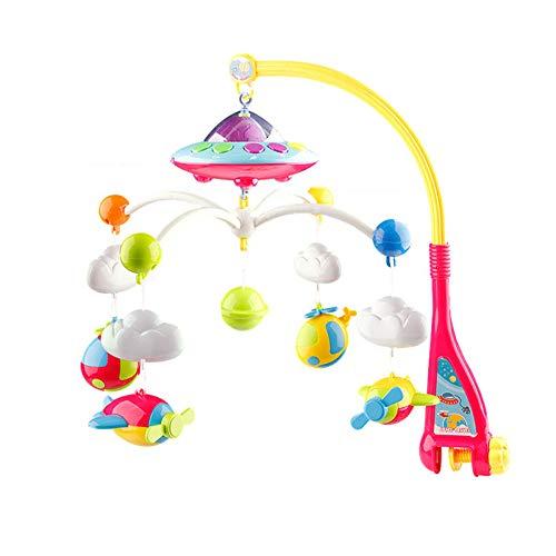 Baby Crib Mobile Star Projection Caja de música giratoria con luz Nocturna Control Remoto con luz Nocturna Juguetes de Cama para recién Nacidos Sonajeros para niños Juguetes para bebés