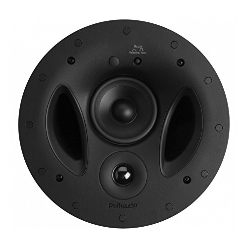Polk Audio 90-RT 3-Way In-Ceiling Speaker - The Vanishing Series | Perfect for Mains, Rear or Side Surrounds | Paintable Wafer-Thin Sheer Grille | Dual Band-Pass Bass Ports for Low Frequencies
