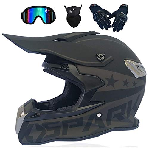 Casco integral de motocross, casco de moto quad, moto de cross eléctrica todoterreno ATV Quad Bike MX 50cc Mini moto para adultos y niños