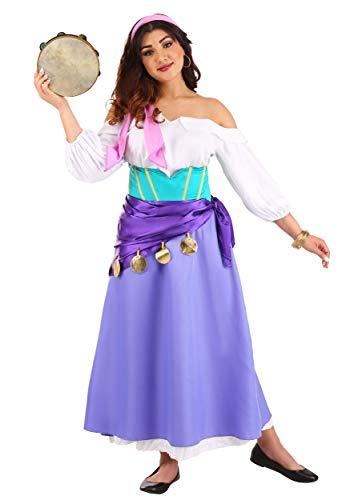 Disfraz de jorobado de Notre Dame Esmeralda para mujer - morado - Large