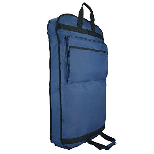 DALIX 39' Garment Bag Cover Suits Dresses Clothing Foldable Shoe Pocket in Navy Blue