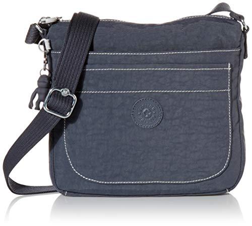 Kipling womens Sebastian Crossbody Bag, Grey Slate, 9 L x 8.5 H 1.75 D US