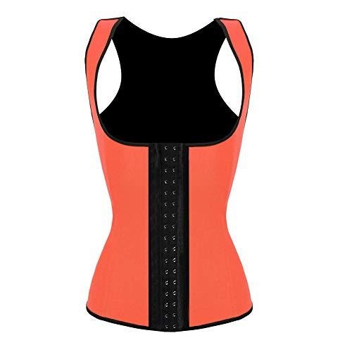SexyCP Erotische Kostüme für Damen Unterwäsche & Dessous für Damen Breiter Schultergurt Gummi Bodybuilding Damen Weste Korsett Orange 5XL
