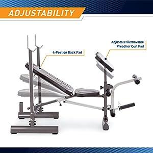 Marcy Folding Standard Weight Bench – Easy Storage MWB-20100