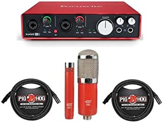Focusrite Scarlett 6i6 USB Audio Interface, 2nd Generation - Bundle With MXL 550/551R Condenser Ensemble Microphone Kit, 2x 20' 8mm XLR Microphone Cable