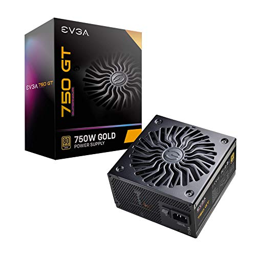 EVGA Supernova 750 GT, 80 Plus Gold 750W, Fully Modular, Auto Eco Mode with FDB Fan, 7 Year Warranty, Includes Power ON Self Tester, Compact 150mm Size, Power Supply 220-GT-0750-Y1