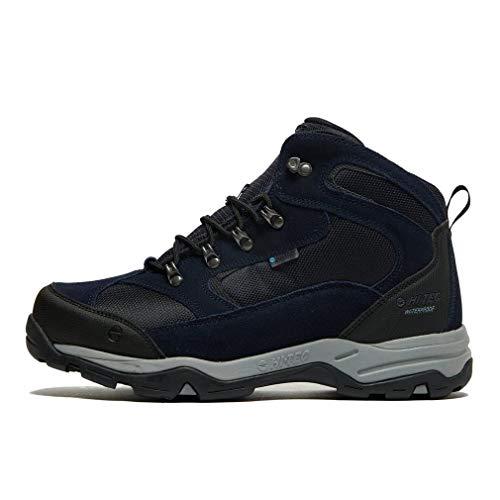 Hi-Tec Storm WP, Zapatillas para Caminar Hombre, Capitán del Cielo Monumento Negro, 45 EU