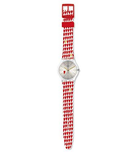 Swatch Reloj Analógico para Mujer de Cuarzo con Correa en Silicona GZ314S