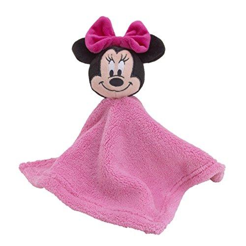 Disney–Peluche de Minnie Mouse–Manta de seguridad, color rosa