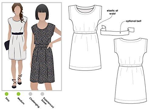 Style Arc Sewing Pattern - Olivia Dress (Sizes 04-16) - Click for Other Sizes Available